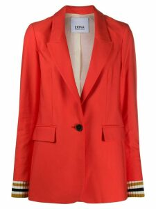 Erika Cavallini boxy fit slit cuff blazer - ORANGE