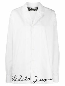 Jacquemus handwritten embroidery shirt - White