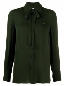 Valentino VGOLD bow-embellished blouse - Green