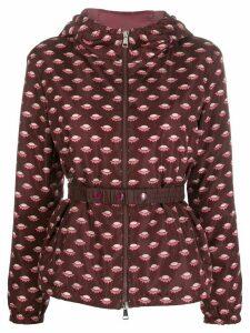 Moncler patterned zip-front jacket - PURPLE