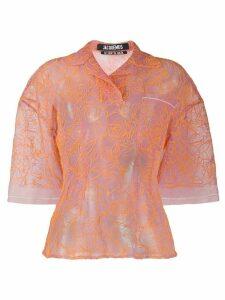 Jacquemus Lavandou rose print blouse - PINK