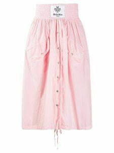 Mr & Mrs Italy pleated midi skirt - PINK