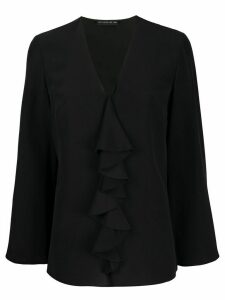 Etro ruffled silk blouse - Black