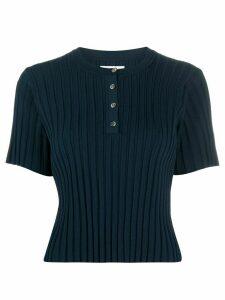 Deveaux ribbed-knit top - Blue