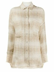 IRO Glenac oversized tweed shirt - NEUTRALS