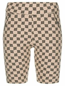MISBHV monogram-print cycling shorts - NEUTRALS