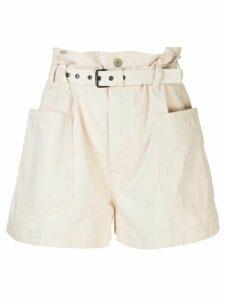 Isabel Marant Étoile Rike belted shorts - White