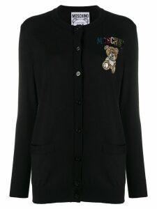 Moschino embellished teddy cardigan - Black