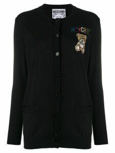 Moschino embellished teddy cardigan - Black