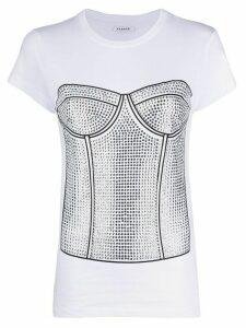 P.A.R.O.S.H. corset print T-shirt - White