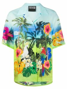 Versace Jeans Couture tropical print shirt - Blue