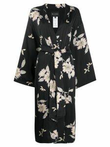 Etro floral print kimono - Black