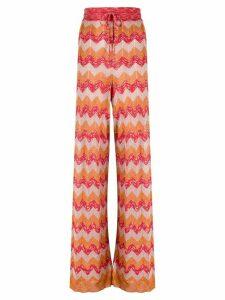 M Missoni high rise knit trousers - ORANGE
