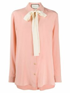 Gucci pussy bow silk shirt - PINK