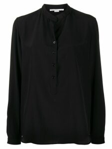 Stella McCartney band collar silk shirt - Black