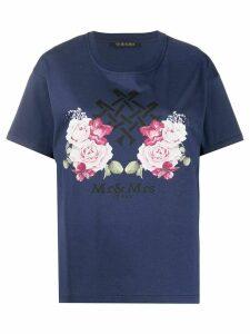 Mr & Mrs Italy logo T-shirt - Blue