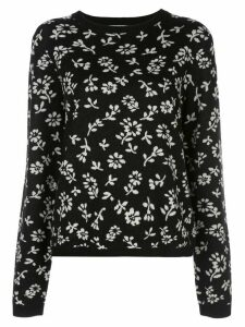 Sandy Liang floral knit jumper - Black
