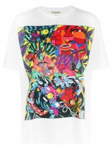 Junya Watanabe graphic print T-shirt - White