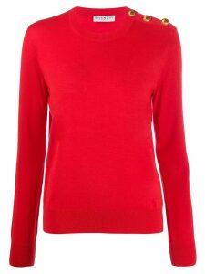 Givenchy button-embellished crewneck jumper - Red