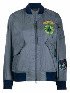 Mr & Mrs Italy patch-embellished bomber jacket - Grey