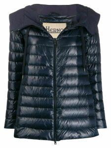 Herno spread hood puffer jacket - Blue
