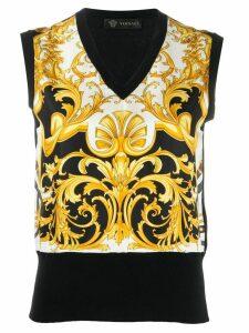 Versace Barocco print jumper - Black