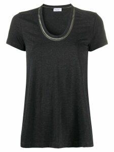 Brunello Cucinelli U-neck T-shirt - Grey