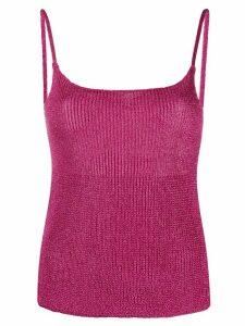 Laneus fine knit tank top - PINK