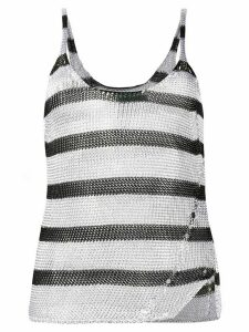Zadig & Voltaire Joss stripes tank top - SILVER