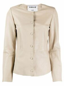 S.W.O.R.D 6.6.44 slim-fit jacket - NEUTRALS