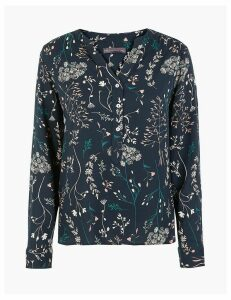 M&S Collection Floral Print Blouse