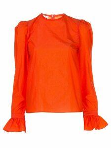 Beaufille ruffled cuff blouse - ORANGE