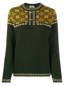 FOLKLOORE Estonian patterned jumper - Green