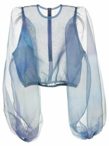Beaufille sheer design blouse - Blue