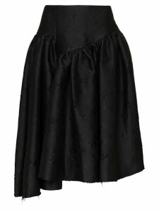 Shushu/Tong embroidered midi skirt - Black