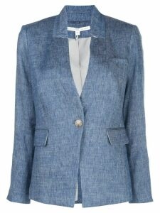 Veronica Beard slim-fit high-collar blazer - Blue