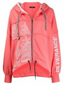 Diesel zipped hooded jacket - PINK