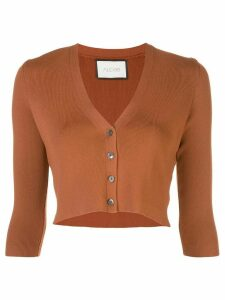 Alexis Petal cropped cardigan - Brown