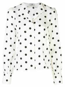 Maryam Nassir Zadeh polka dot blouse - White