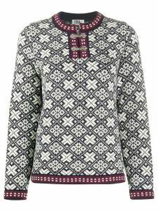 FOLKLOORE Estonian wool jumper - Blue