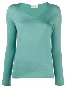 Zanone v-neck knit top - Green