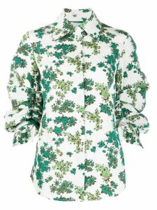 Victoria Victoria Beckham floral print gathered sleeve shirt - Green