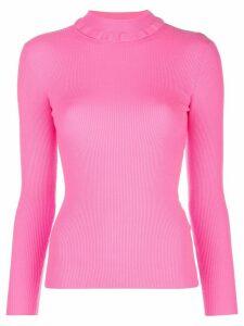 Tanya Taylor mock neck ribbed knit jumper - PINK