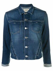 L'Agence Janelle distressed hem jacket - Blue