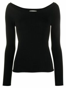 Zanone boat neck knit top - Black