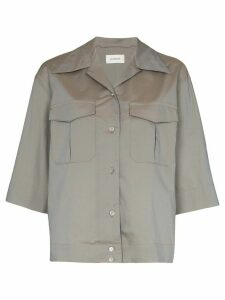 Lemaire 3/4 sleeve camp collar shirt - Grey