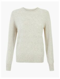 Autograph Pure Cashmere Diamond Cable Knit Jumper