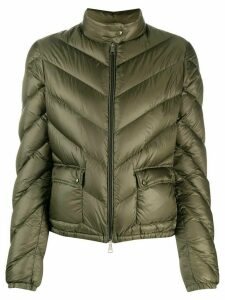 Moncler chevron quilted down jacket - Green