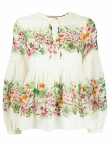 Twin-Set floral-print blouse - NEUTRALS