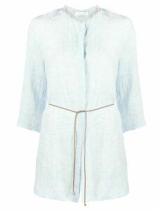 Fabiana Filippi rhinestone collar shirt - Blue